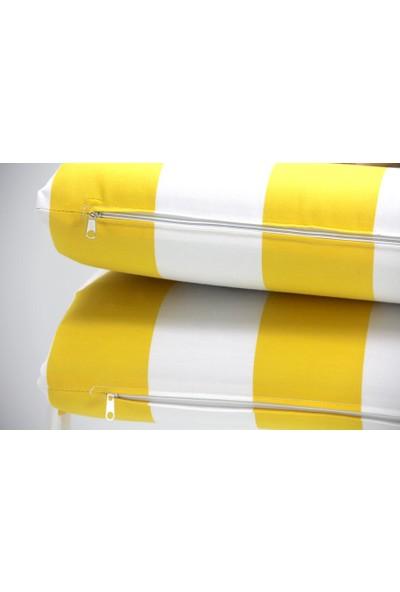 İşbir Şezlong Minderi Katlanabilir Sarı Çizgili