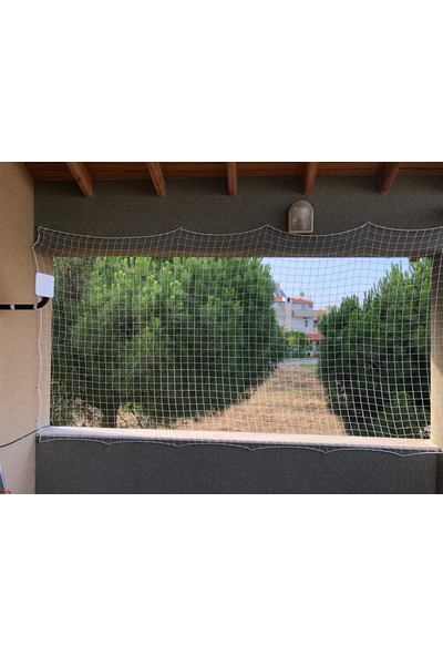 Nodes - Kedi Balkon Çocuk Filesi Beyaz (50 cm En)