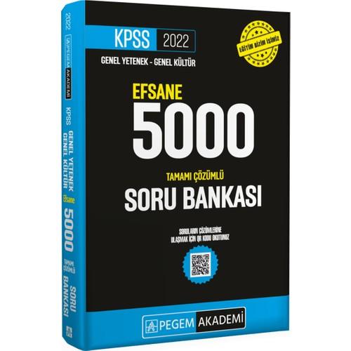 Pegem Akademi Yayıncılık 2022 KPSS Genel Yetenek Genel Kültür Efsane 5000 Soru Bankası