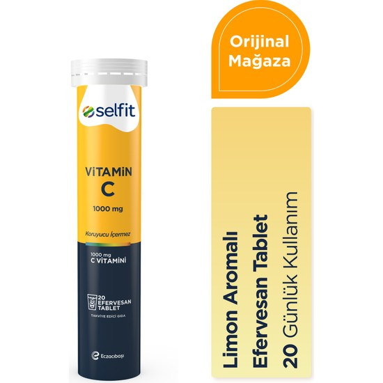 Eczacıbaşı Selfit Vitamin C 1000 mg 20 Efervesan Tablet - SKT: 06.2023