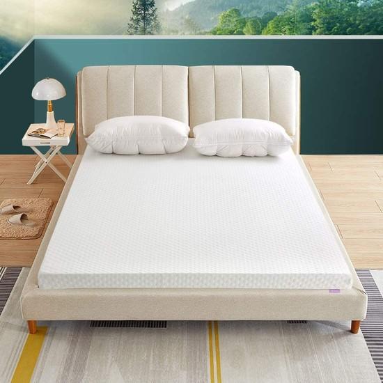 By Karasu 10 cm Visco Yatak Pedi & Yer Yatağı Yıkanabilir Aleovera Lastikli
