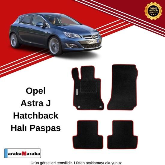 Automix Opel Astra J Hb Topuk Korumalı Halı Paspas Siyah-Kırmızı