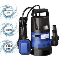 Stilmax QSB450 450W Plastik Gövdeli Kirli ve Temiz Su Dalgıç Pompa Seti Şamandıralı Otomatik Paket