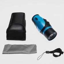 Nikula 30X30 Tek Gözlü Perma Focus Özellikli Otomatik Netleme El Dürbünü (Mavi)