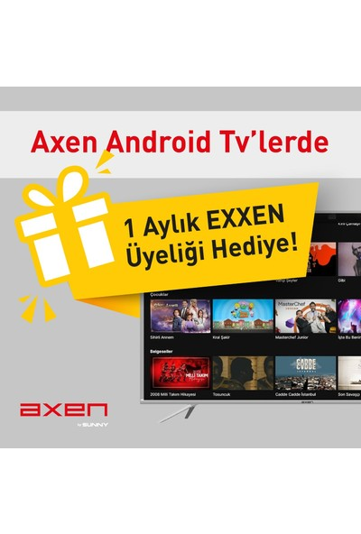 """Axen AX50LEDJ405 50"""" 127 Ekran Uydu Alıcılı Full Hd Smart LED Tv"""