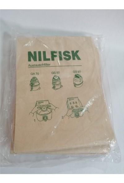 Nilfisk GA70 GS80 GS90 Elektrikli Süpürge Torbası Kagıt 10 Adet