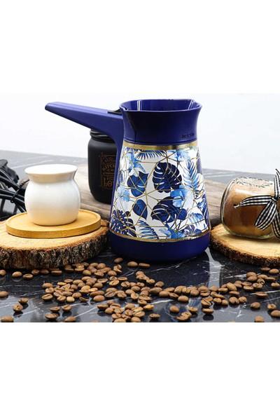 Herevin Yaprak Desenli Elektrikli Cezve Kahve Makinesi