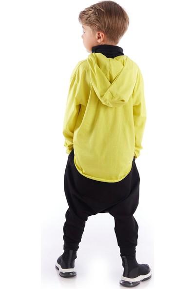 Colorinas Pocket Mask Uzun Kol Tshirt Sarı