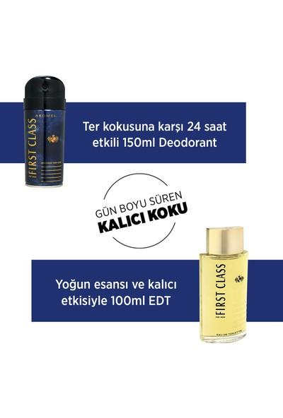 First Class Edt 100 ml + 150 ml Erkek Parfüm Seti/( Full Speed Roll-On + Maske )