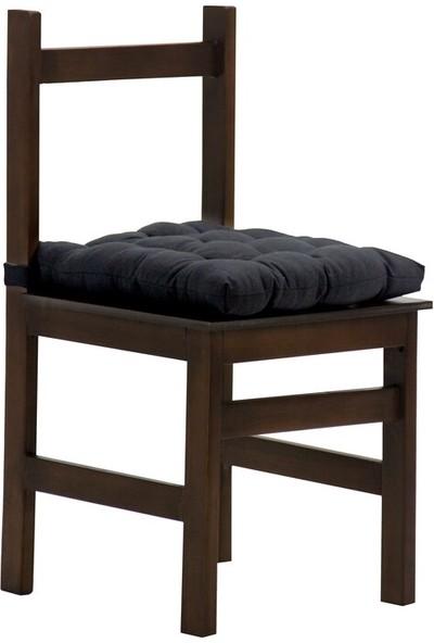 İşbir Rattan Kare Sandalye Minderi Cırtlı Siyah 45 x 45 cm