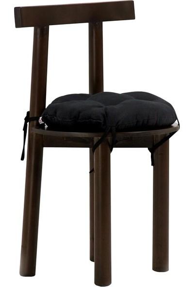 İşbir Yuvarlak Sandalye Minderi 40 x 40 cm Siyah