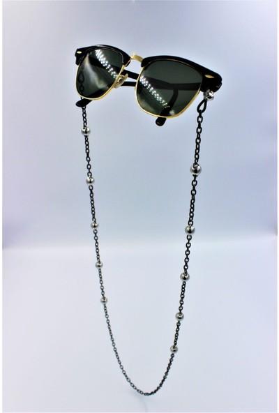 Cosibella Kadın Siyah Top Zincir Güneş Gözlüğü Zinciri Gözlük Askısı
