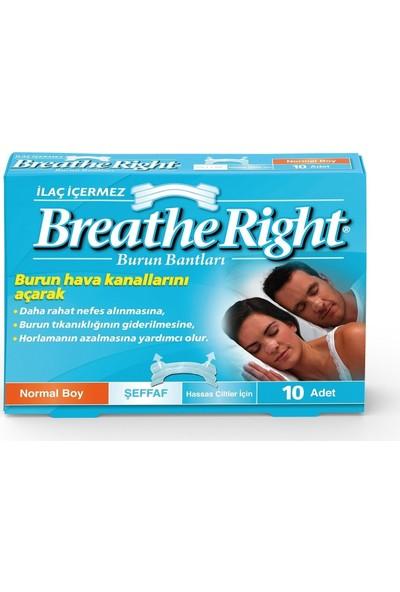Breathe Right Burun Bandı Şeffaf Normal Boy