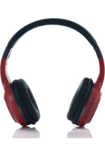 Tastech SY-BT1607 Bluetooth Kulaklık Kablosuz Sd Kart Girişi Aux Kırmızı