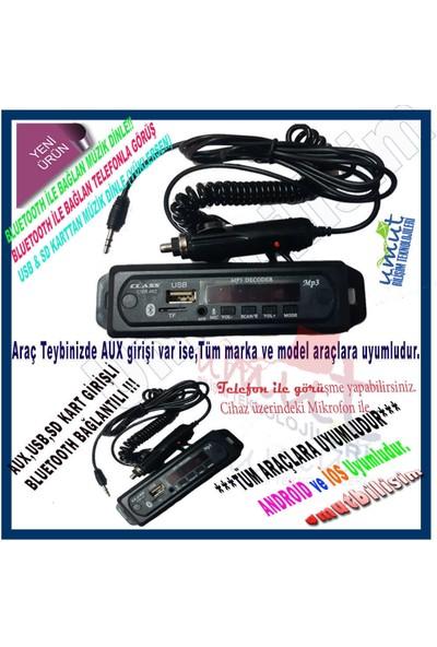 Class Megan 3 Class 402 Araç Spiral Kablo Oto Teyp Aux , USB , Sd Çevirici Dönüştürücü ve Bluetoothlu
