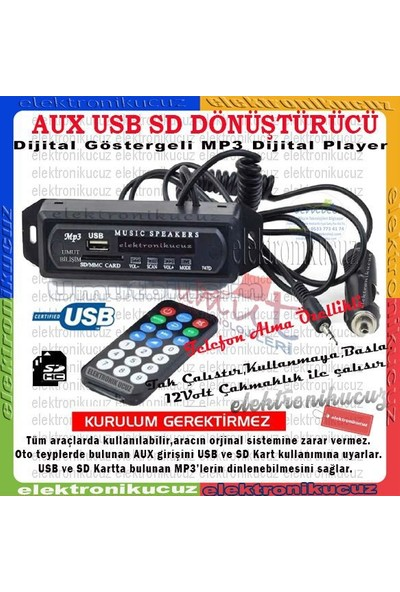 Class USB-402 Buluetooth Telefon Görüşmeli Çakmak Girişli Usb/sd/aux/mp3/bt Mod