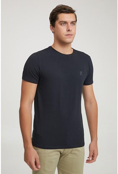 D'S Damat Twn Slim Fit Siyah Baskılı T-Shirt