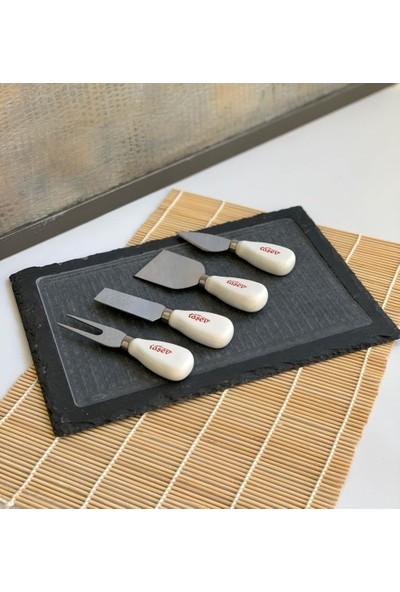 Bambum Cocha Sandro - 5 Parça Peynir Bıçaklı Sunum Seti