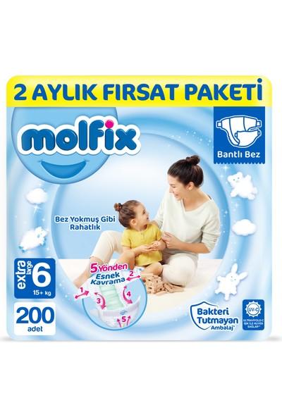 Molfix Bebek Bezi 6 Beden Ekstra Large 2 Aylık Fırsat Paketi 200 adet