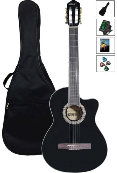 Midex MGX100-CG3900 Üst Seviye Klasik Gitar 4/4 Sap Ayarlı Gül Klavye (Tuner Çanta Metod Pena)