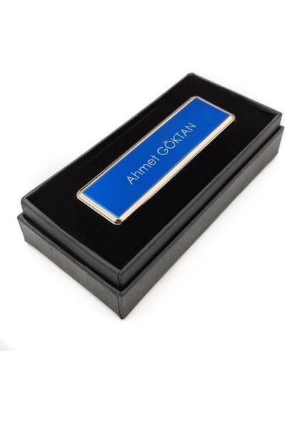 Hediyehanesi Kişiye Isme Özel USB Şarjlı Alevsiz Elektronik Çakmak Mavi M08