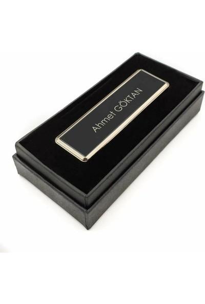 Hediyehanesi Kişiye Isme Özel USB Şarjlı Alevsiz Elektronik Çakmak Siyah M07