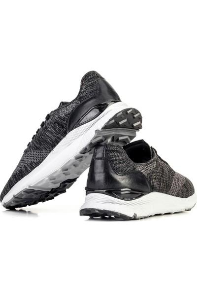 Cabani Özel Tasarım Artemis Triko Erkek Ayakkabı 316B1497 Füme