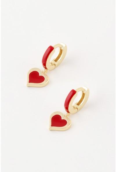 Sortie Accessories Kalp Figürlü Sallantılı Küpe 009
