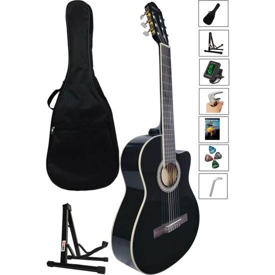 Midex MGX1000CX SET Üst Seviye Klasik Gitar 4/4 Sap Ayarlı (Çanta Stand Tuner Capo Metod Pena)