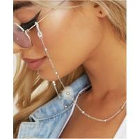 Cosibella Gümüş Renk Toplu Gözlük Zinciri, Son Moda Güneş Gözlüğü Zinciri