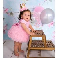 Le Mabelle Pembe Tütülü Bebek Prenses Elbise- Lina