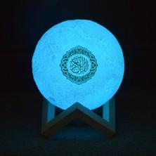 Shopfocus Ay Gece Işığı 3D Baskılı Ay Küre Lambası Equantu Hoparlör (Yurt Dışından)