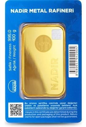 Nadir Gold 24 Ayar Külçe Gram Altın 100 Gr.
