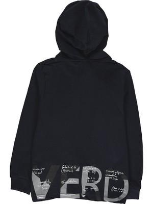 Overdo Baskılı Oversize Renkli Erkek Kapşonlu Sweatshirt