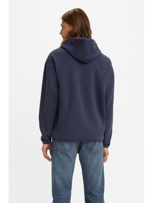 Levi's Erkek Regular Utility Hoodie Kapüşonlu Sweatshirt - A0756-0001