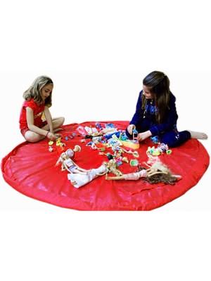 Elasya Hediyelik Taşınabilir Büyük Oyuncak Hurcu - Kırmızı