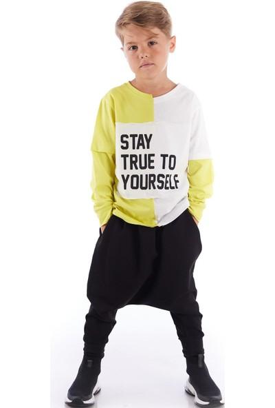 Colorinas Stay True Patch Tshirt Sarı-Beyaz