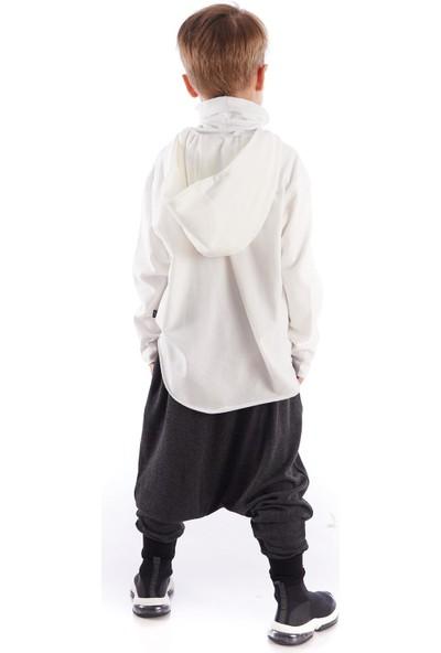 Colorinas Comfy Airy Baggy Pantolon Antrasit Melanj
