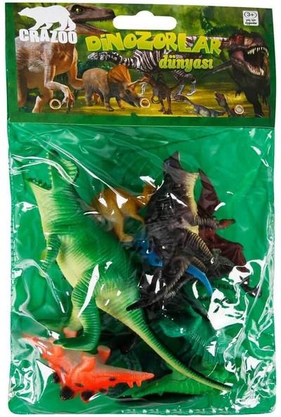 Crazoo Dinozorların Dünyası Poşetli Hayvan Oyun Seti (