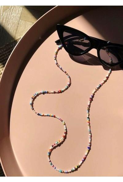 Cosibella Renkli Boncuk Güneş Gözlüğü Askısı Ipi Zinciri