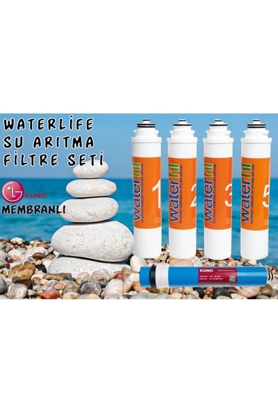 Waterlife Filtre 5 'li Lg Mebran Set Waterlife Su Arıtma Filtresi