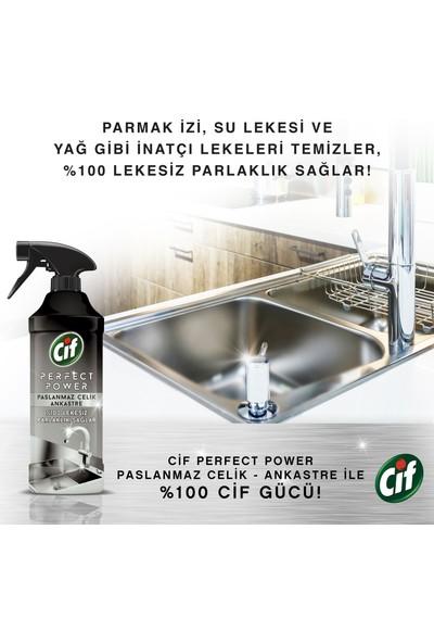 Cif Paslanmaz Çelik Sprey Perfect Power 435 ML
