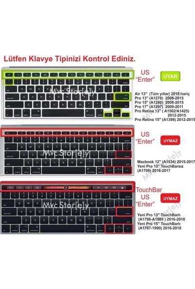 "Mcstorey MacBook Air Pro A1278 A1466 13"" - 15"" Arabic Us Baskı Klavye Koruyucu Kılıf"