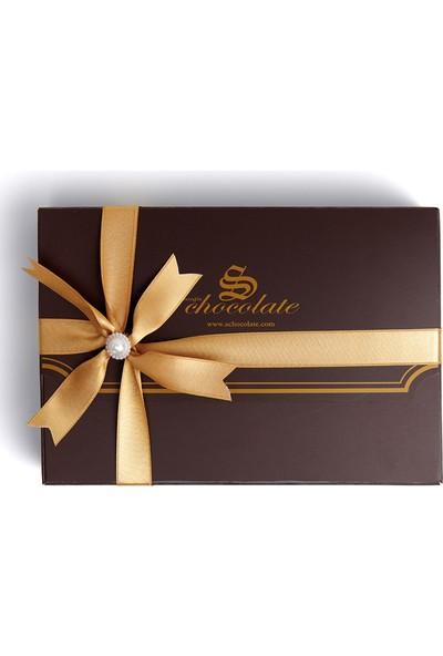 Sıroğlu Çikolata S Chocolate Yaldızlı Kalp Draje Hediyelik Çikolata Kutu