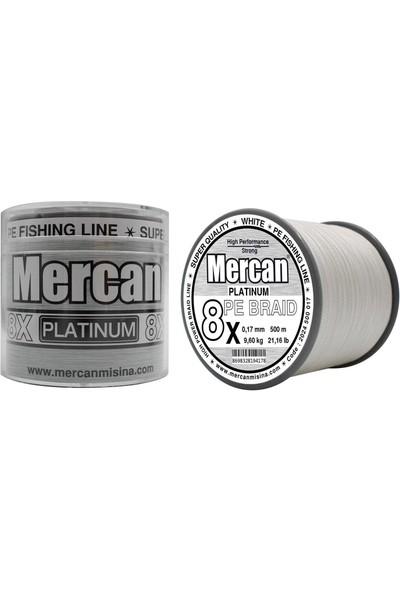 Mercan Pe Örgü Platinum 8x Ip 500 M Beyaz Misina