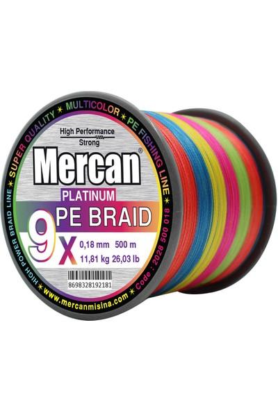 Mercan Pe Örgü Platinum 9x Ip 500 M Multıcolour Misina