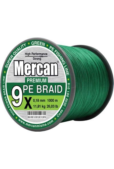 Mercan Pe Örgü Platinum 9x Ip 1000 M Yeşil Misina