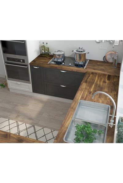 INTERBUILD REAL WOOD Interbuild Mutfak Tezgahı,akasya Masif Ağaç 2200X635X26 Mm, Hardwax Yağı ile Kaplı.1 Adet,kahverengi