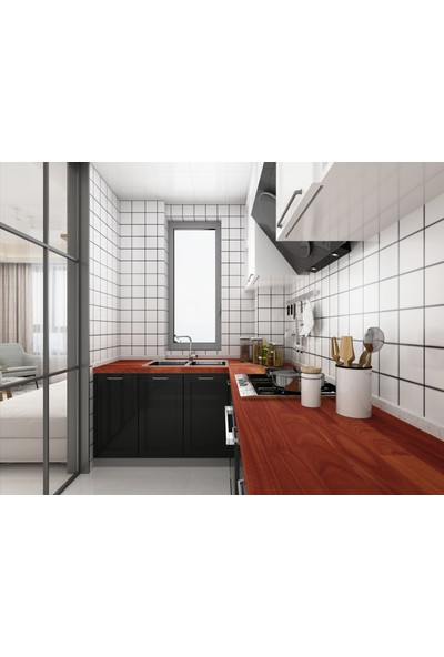 INTERBUILD REAL WOOD Interbuild Mutfak Tezgahı,karri Masif Ağaç 2200X635X26 Mm, Hardwax Yağı ile Kaplı.1 Adet