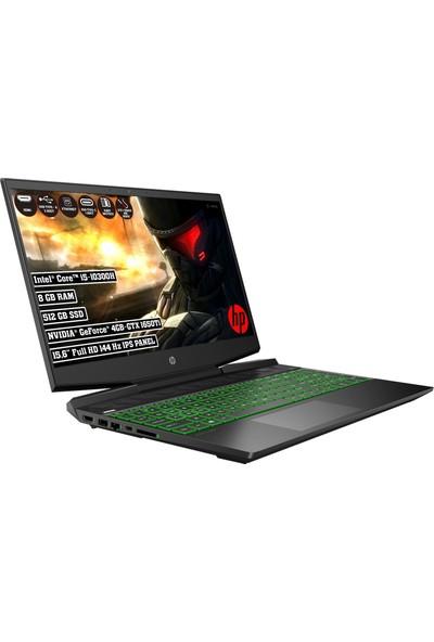 "HP Pavilion 15-DK1032NT Intel Core i5 10300H 8GB 512GB SSD GTX 1650TI Freedos 15.6"" 144Hz IPS FHD Taşınabilir Bilgisayar 3Y5L6EA"